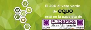 Vota verde: Vota Podemos – Ahora Altoaragón en Común