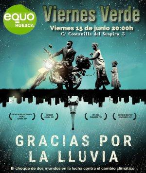 Viernes Verde 15 de junio a las 20:00h – Proyección de la película y coloquio: Gracias por la lluvia