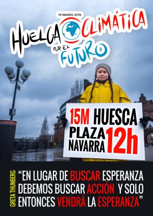 #FridaysForFuture en Huesca – 15 de marzo a las 12h.