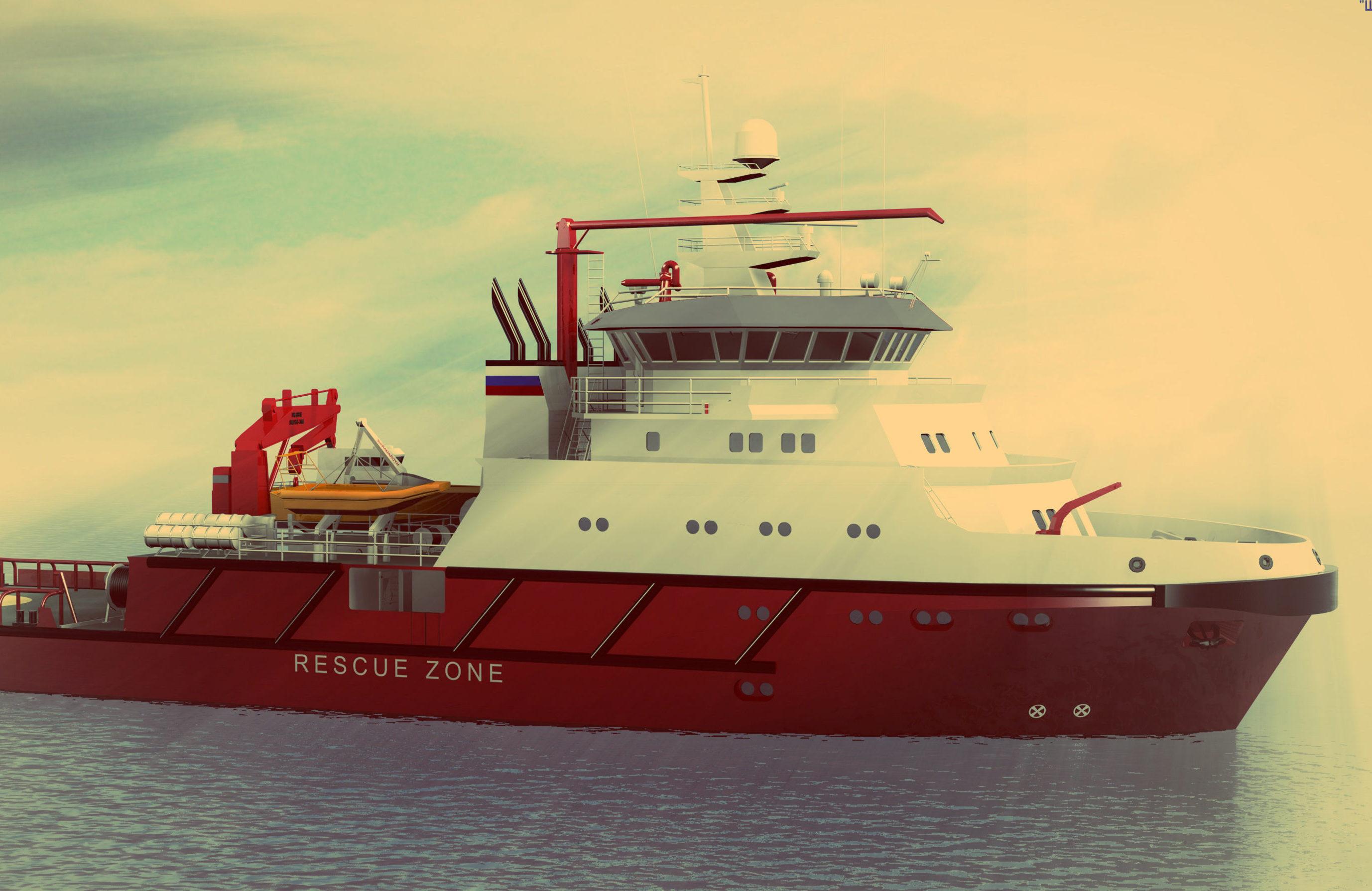 Спасательно-буксирное судно проекта 22870