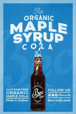 BecCola-boissons gazeuse biologique au sirop d'érable