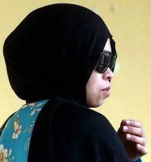 Kartika Sari ketika di Mahkamah Syariah Pahang
