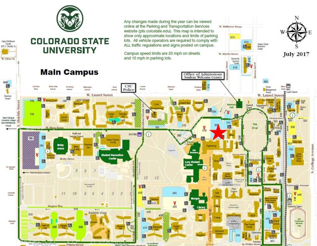 Top Colorado State University Map Galleries - Printable Map - New ...