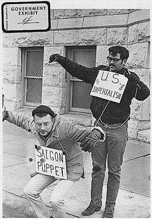 Διαδηλωτές ενάντια στον πόλεμο του Βοετνάμ. 1967