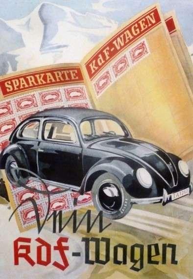 """Αφίσα των ναζί για το """"αυτοκίνητο του λαού"""""""