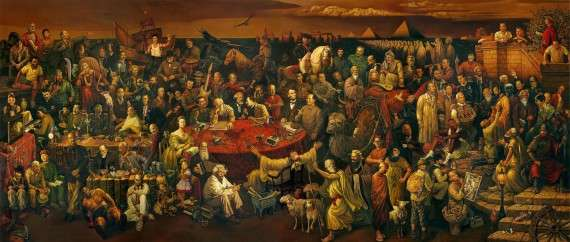 Dai Dudu, Li Tiezi, and Zhang An - Discussing the Divine Comedy with Dante (2006) (ο Πλάτωνας πάνω αριστερά)