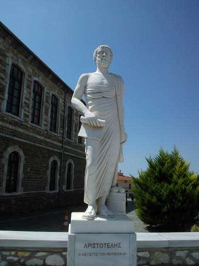 Άγαλμα του Αριστοτέλη στη Χαλκιδική