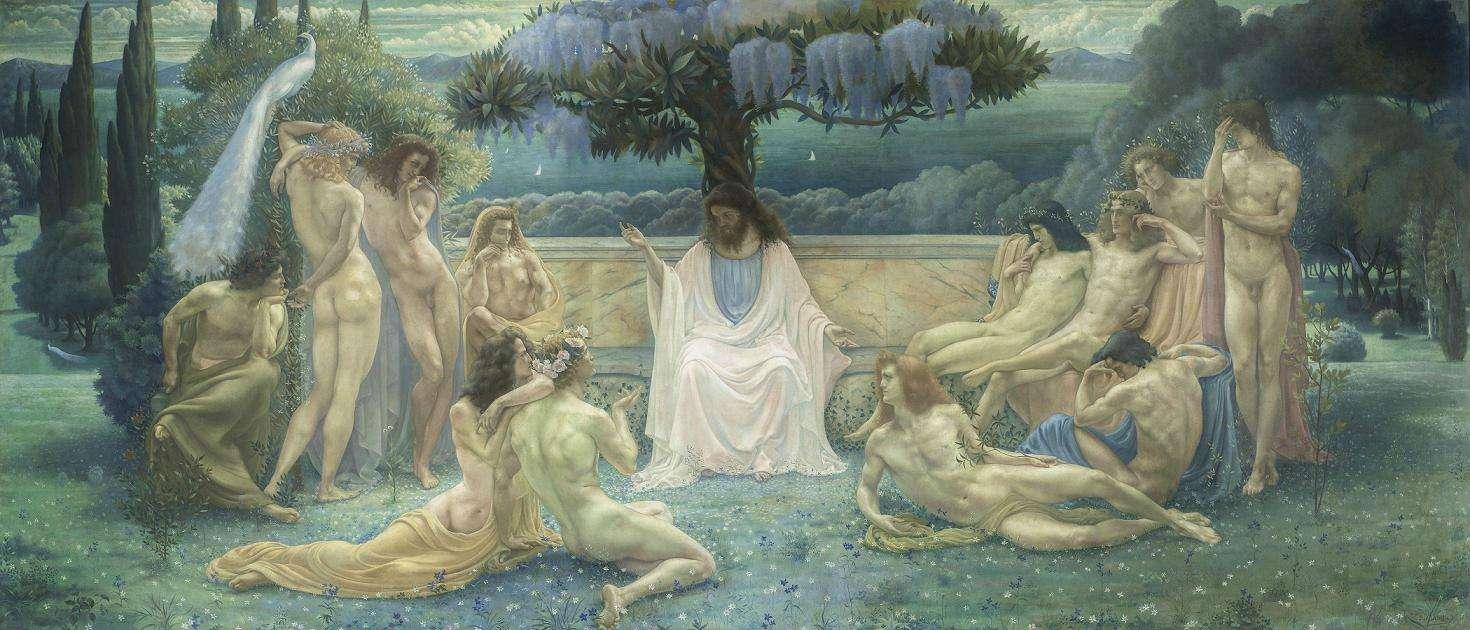 Jean Delville - The School of Plato (1898)
