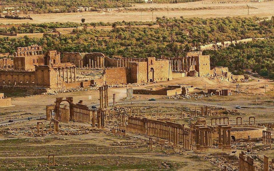 Ο αρχαιολογικός χώρος της Παλμύρας σήμερα