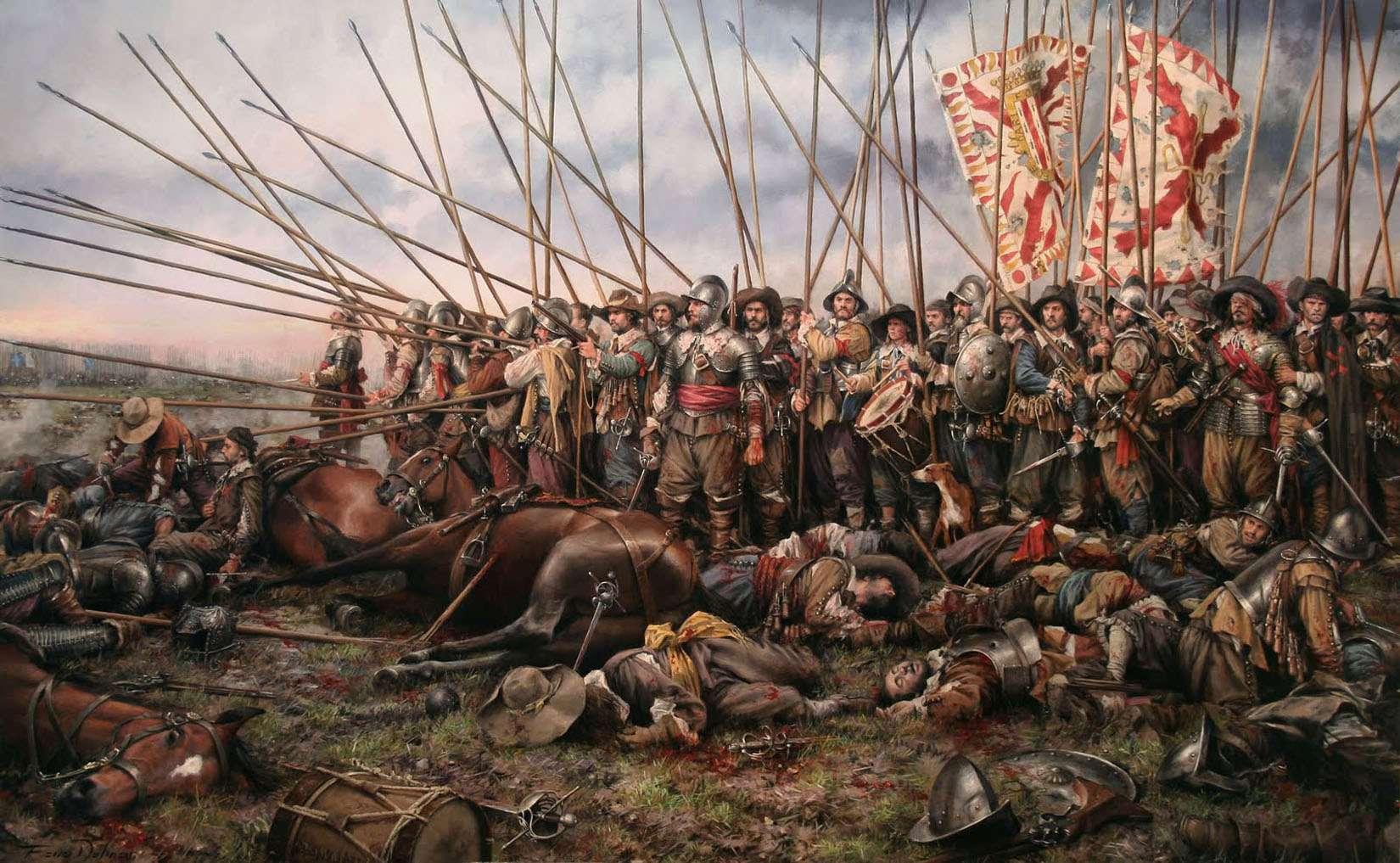Τριακονταετής Πόλεμος. The Battle of Rocroi (1643), by Augusto Ferrer-Dalmau