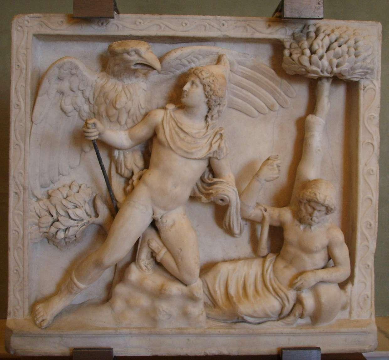 Δίας και Γανυμήδης. Jupiter abducting Ganymede; 1st-century AD Roman statue.