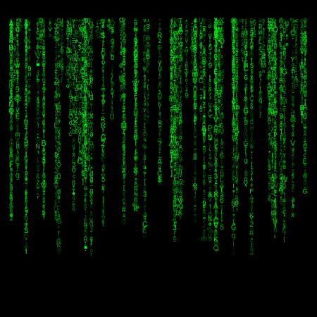 Matrix-style screen saver in R