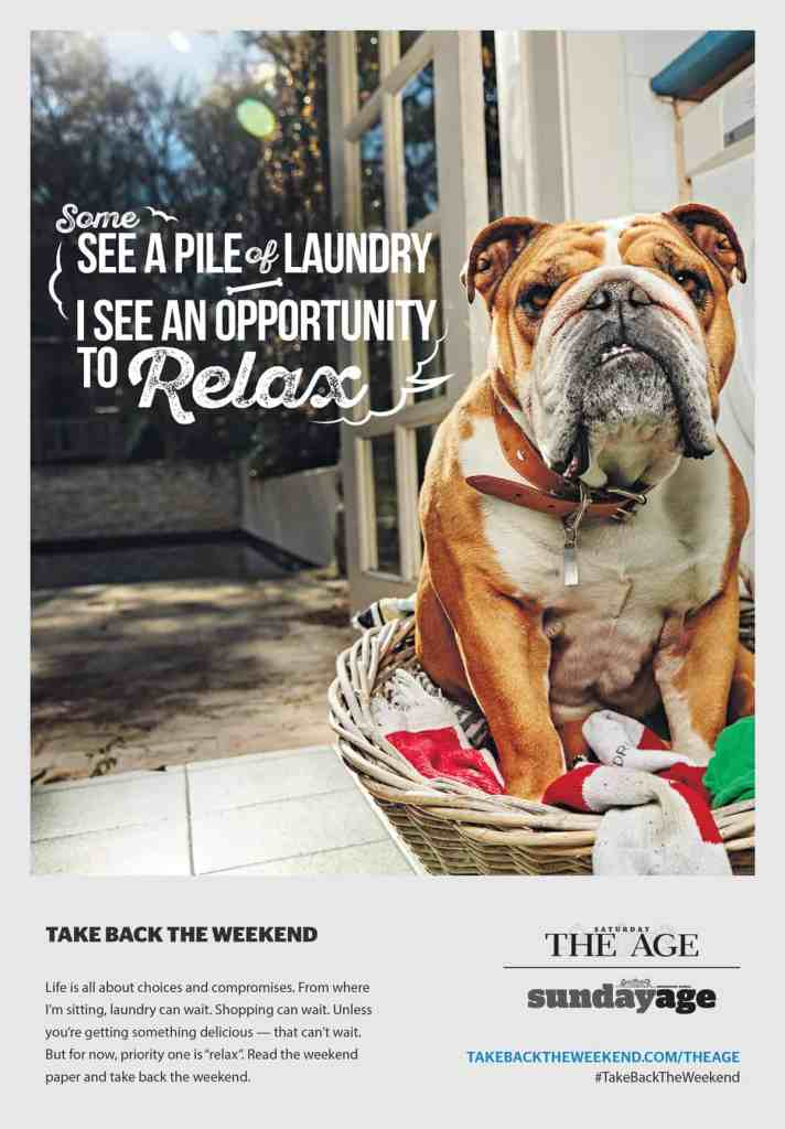 Fairfax Media Ad for Weekend Newspapers via The Royals, Sydney, CW Eran Thomson