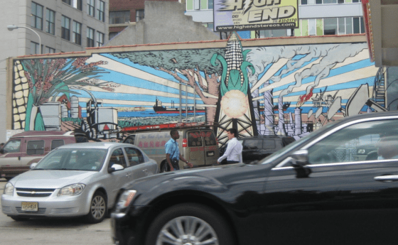Cool Mural Helps Sell Corny Gasoline