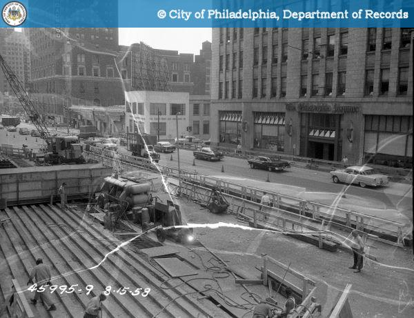 Contract 12620 - Bridge Broad and Callowhill Streets: Traffic pattern during stage IV construction.