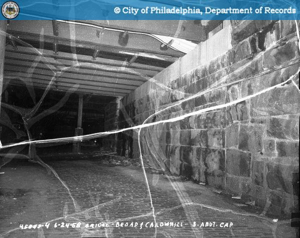 Bridge - Broad and Callowhill: South abutment cap.
