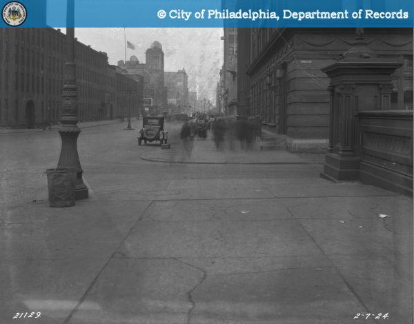 Broad and Callowhill Streets - Bridge South of Noble Street - View North.