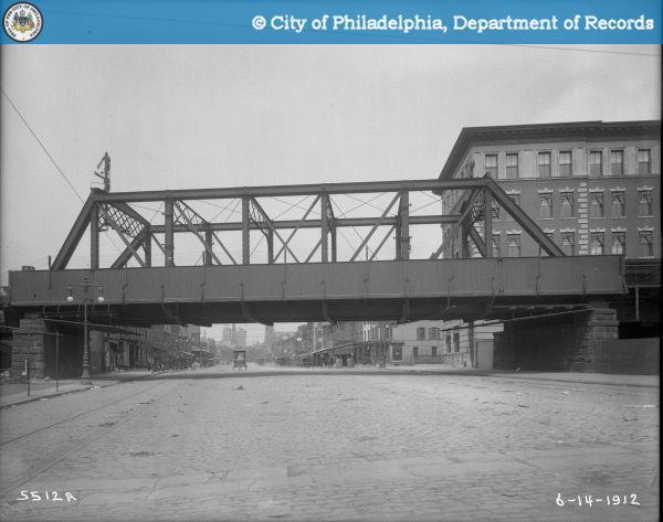 Railroad Bridge Over Spring Garden Street West of 9th Street.