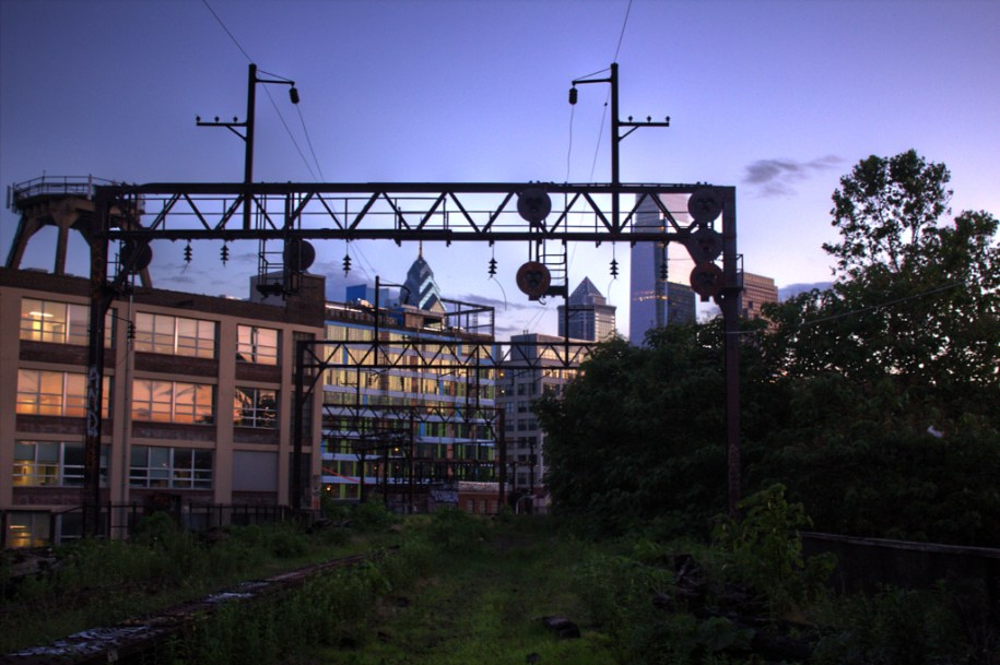 Sunset on the Reading Viaduct