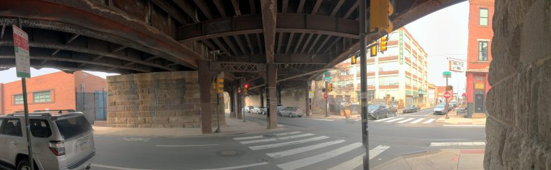 Beneath the Reading Viaduct 11th and Callowhill Streets Callowhill District Philadelphia, PA Copyright 2019, Bob Bruhin. All rights reserved.