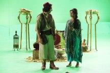 Aladdin y Jasmine en todo lo verde