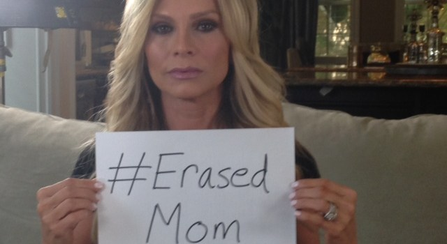 Tamra Judge interviewed for Erasing Family posts #Erased Mom Photo