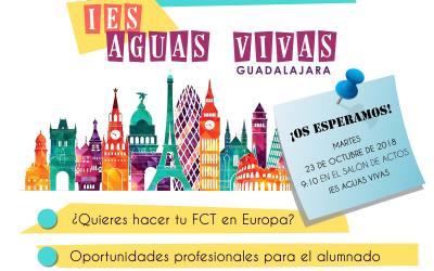 """2ª Jornada de difusión Erasmus+ KA 103 para alumnado de CFGS"""": Celebrando Erasmus+ en nuestro centro"""