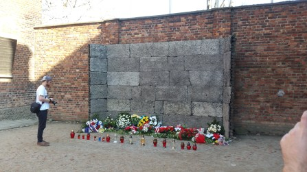 The wall of death where Jews were killed by shots