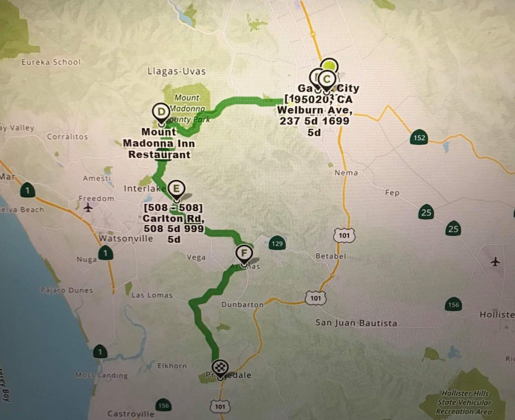 ECC California Route