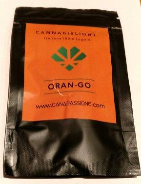 Bustina di Oran-go, canapa light di Canapassione