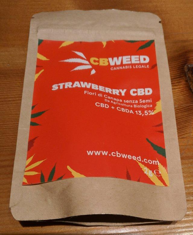 Strawberry CBWeed, la confezione