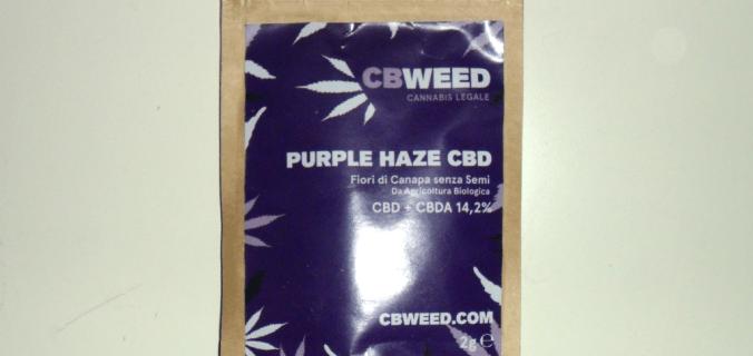 Bustina di canapa legale Purple Haze di CBweed