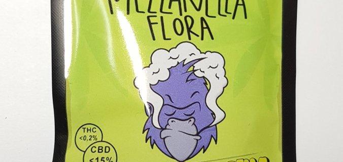 Bustina canapa legale Gorilla Glue Mezzanella Flora confezione