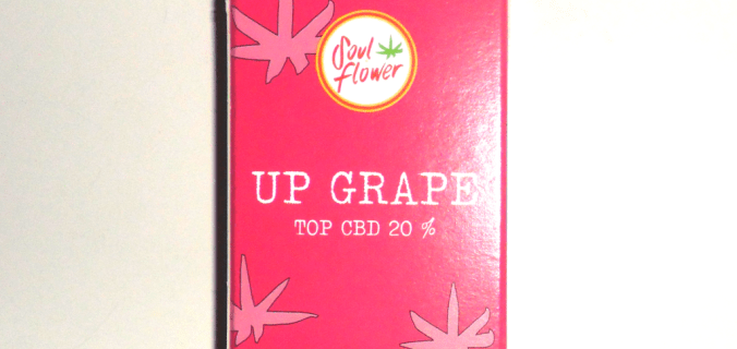 Scatola cannabis light Up Grape di Soul Flower