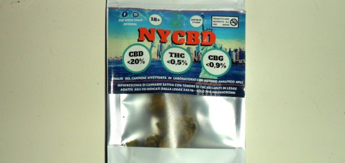 Bustina canapa legale NYCBD di The Weed Shop Official
