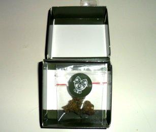 Confezione aperta di Flore Kompolti Cheese Bud di Inflorescenze