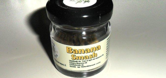 Barattolino di vetro di canapa legale Banana Smash de Il Club della Canapa
