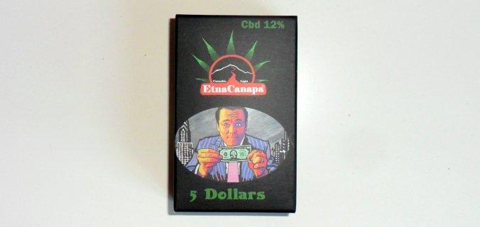 Scatolina di canapa legale 5 Dollars di EtnaCanapa