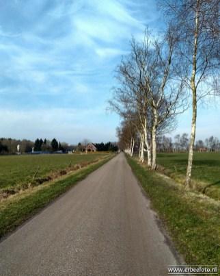 Richting het Bolmeer, het prachtige Groninger platteland.