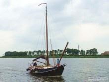 Zoutkamp - binnenvarende zeilboot