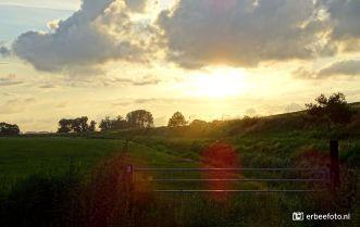Zonsondergang Hek spoordijk Noordhorn