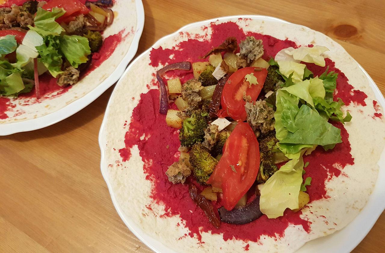 Burrito cu legume