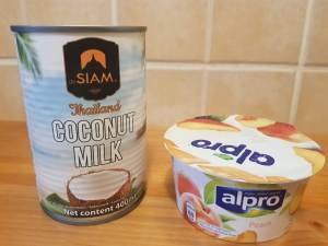 crema de cocos si iaurt alpro