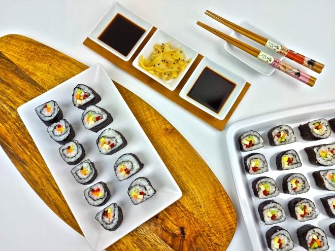 sushi rolls vegane