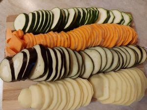 legume taiate pentru ratatouille