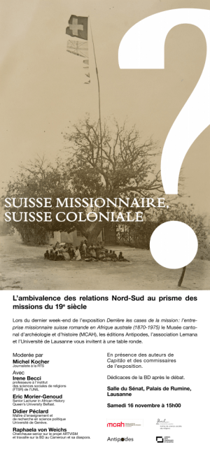 Table ronde: Suisse Missionaire – Suisse Coloniale ?