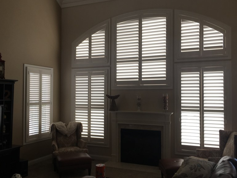 customized plantation wood shutters