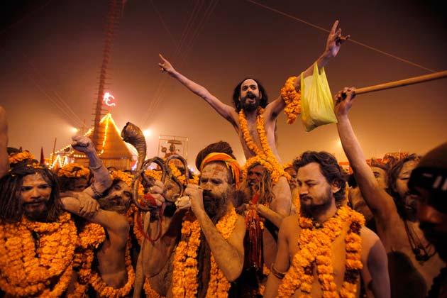 Naga Sadhus Celebration