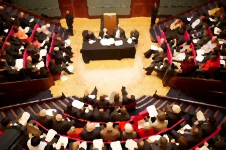 Clash of the Titans in progress at the Royal Institution