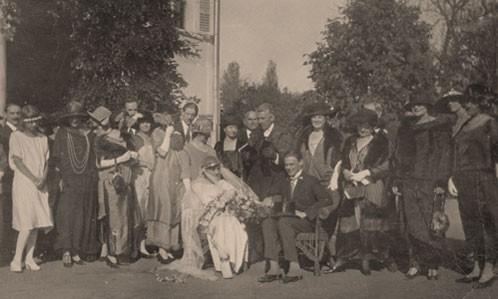 Báró Kemény János és Augusta Paton  esküvője Gyekén